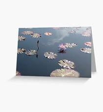 Lilie und Lotus 2 Grußkarte
