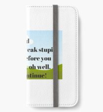 God thoughts  iPhone Wallet/Case/Skin