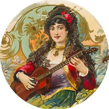 Lady With Guitar Music Sticker by henrytheartist
