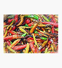 Chili's In Pencil Photographic Print