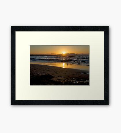 sunset at Byron too Framed Print