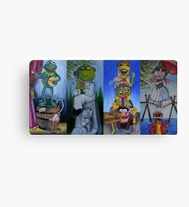 Muppets Haunted Mansion Stretching Room Portraits Canvas Print