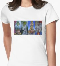 Muppets Haunted Mansion Stretching Room Portraits Women's Fitted T-Shirt
