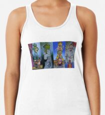 Muppets Haunted Mansion Stretching Room Portraits Women's Tank Top