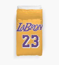 LaBron Jersey script 1 Duvet Cover
