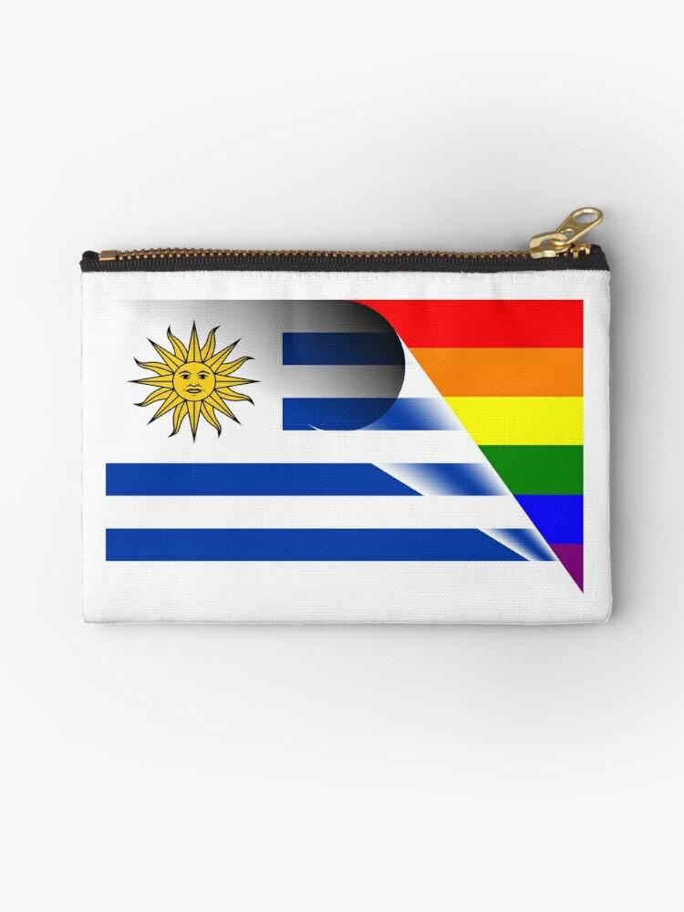 de2247251 Bolsos de mano «Bandera de Uruguay Bandera de LGBTQ Pride Rainbow ...