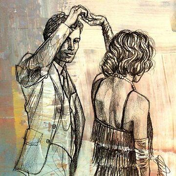 Klaus and Caroline drawing - Klaroline - The Vampire Diaries by shipwithme