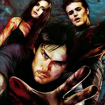 Drawing -  The Vampire Diaries by shipwithme