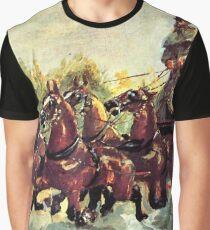 """Henri de Toulouse-Lautrec """"Count Alphonse de Toulouse Lautrec driving a four horse hitch""""  Graphic T-Shirt"""