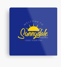 Sunnydale SIgn Metal Print