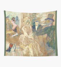 """Henri de Toulouse-Lautrec """"Au Bal masqué de l'Elysée Montmartre""""  Wall Tapestry"""