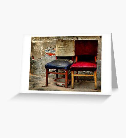兩把椅子和一個碗  Greeting Card