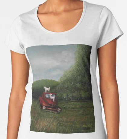 PLAYTIME, Acrylic Painting, for prints and products  Women's Premium T-Shirt