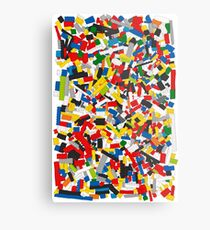 Lots of Coloured Toy Bricks (Lego) Metal Print