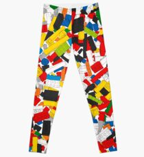 Lots of Coloured Toy Bricks (Lego) Leggings