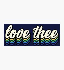 Love Thee - blue and gold Photographic Print