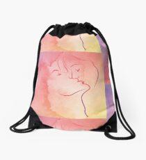 Shared Kiss Drawstring Bag