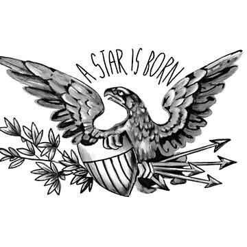 Una estrella nace águila camiseta de nicoloreto