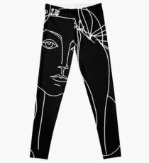 KOPF: Jahrgang 1946 junges Mädchen Silhouette Print von Picasso Leggings