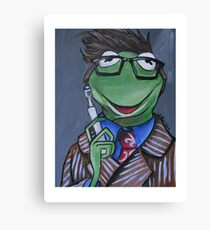 Kermit, Tenth Doctor Canvas Print