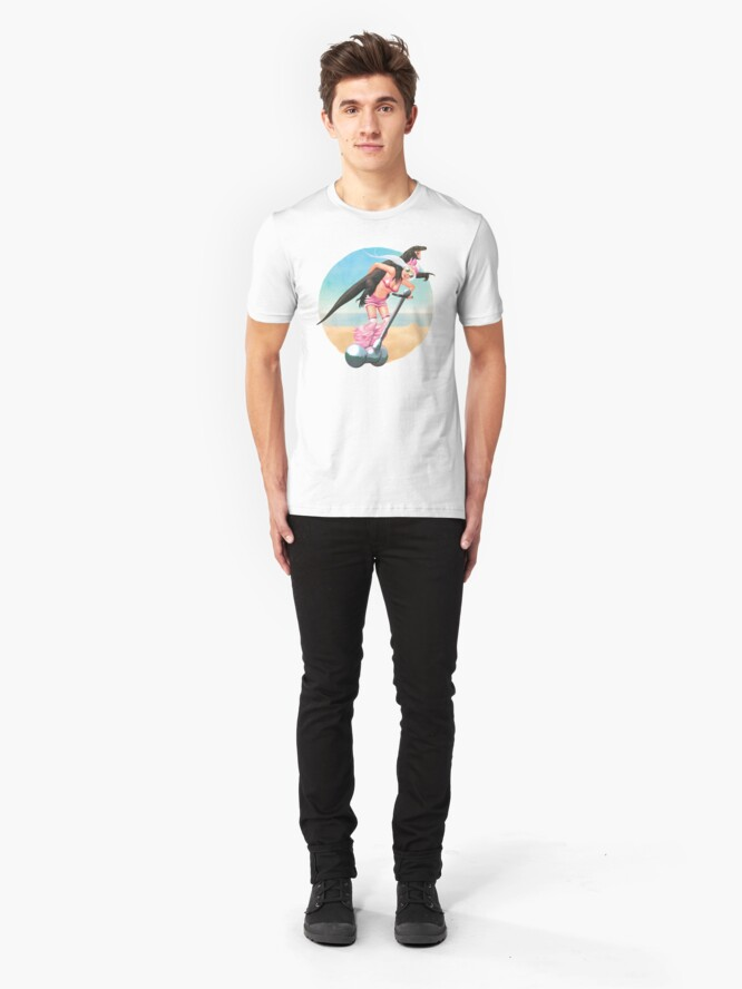 Alternate view of Komodo-a-GoGo | Digital Illustration Slim Fit T-Shirt