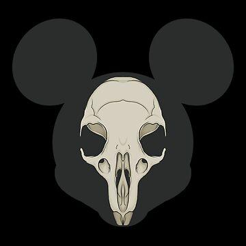 Mickey's Skull by JCoulterArtist