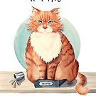 If I fits I sits by Sarah  Mac Illustration
