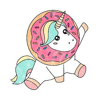 Donut Day Shirt Vintage Doughnut Unicorn Magic Sprinkle Gift by arnaldog