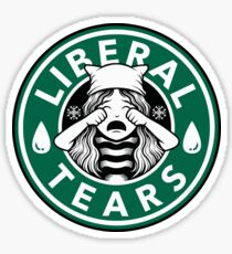 Liberal Tears Brand Coffee  Sticker