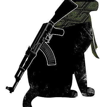 Terrorist Cat by clingcling