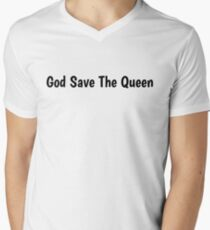 19e100137a1c2 Camiseta para hombre de cuello en v God Save The Queen