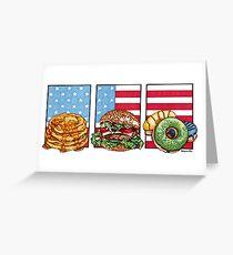 American Food Greeting Card