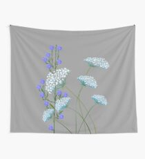 Wild Flowers, Queen Anne's Lace and Flax Wall Tapestry
