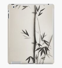 Japanese Zen painting of Bamboo stalk with leaves black ink on vintage rice paper art print iPad Case/Skin