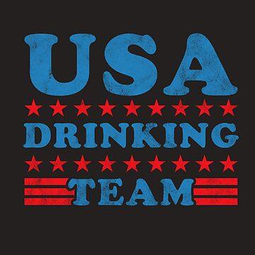 Independence Day Shirt USA Drinking Team Beer Drunk Gift Tee by arnaldog