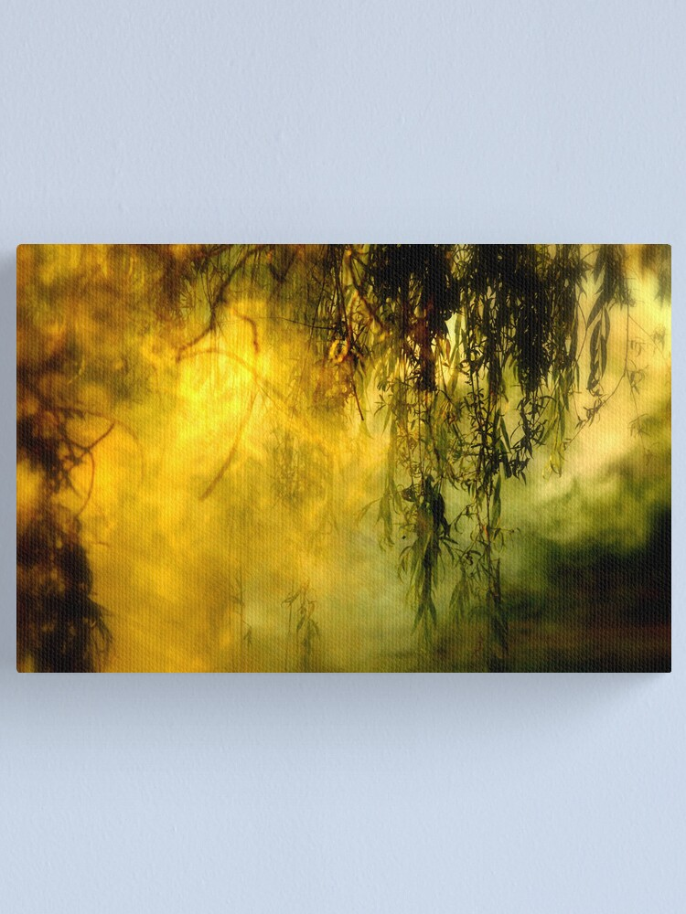 Alternate view of Misty Willow Canvas Print