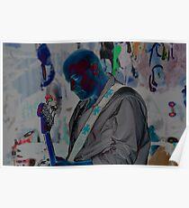 Blue Man Chris Poster