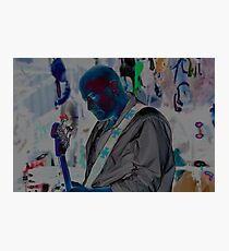 Blue Man Chris Photographic Print