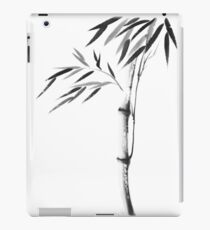 Japanese Zen painting of Bamboo stalk with leaves black ink on white rice paper art print iPad Case/Skin