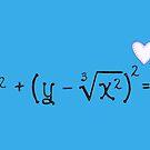 Math heart (blue) by funmaths