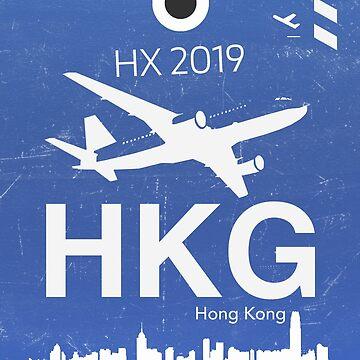 HKG Hong Kong airport midnight blue by Aviators