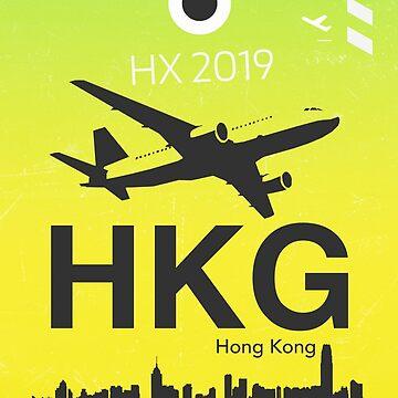 HKG Green Hong Kong airport code by Aviators