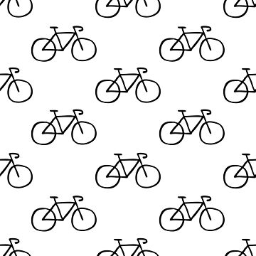 bicycle seamless doodle pattern by zizimentos