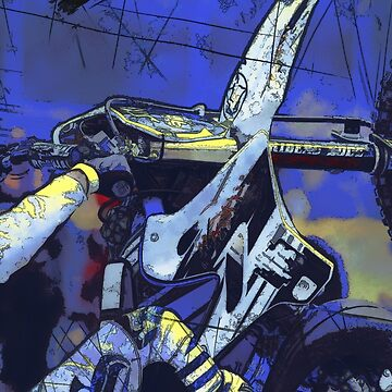 All Revved Up - Freestyle Motocross Rider by NaturePrints