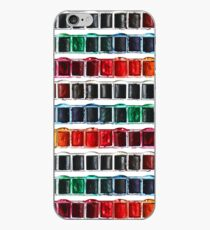 Multicolor fun watercolor paint artist pallet iPhone Case