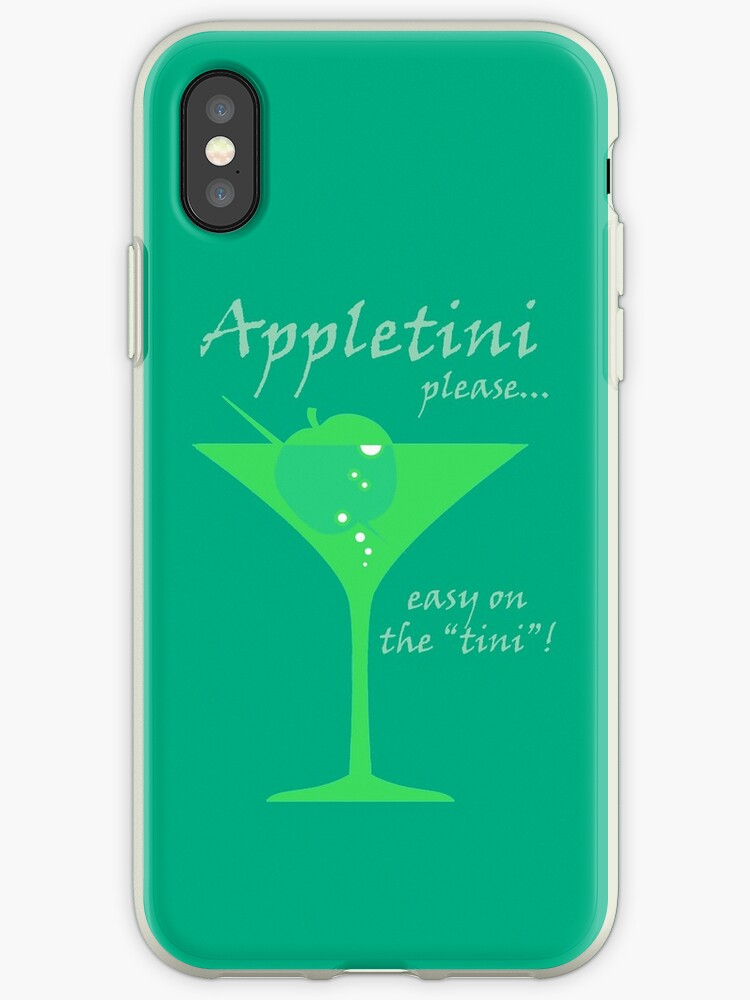 Appletini Iphone Cases Covers By Uwaki Redbubble