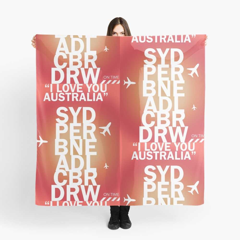 I love you Australia. Crown Victoria vers. Scarf Front