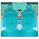 Teal Serenity - Buddha by DesJardins