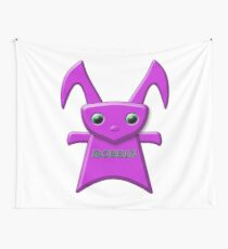 PURPLE ROBBIT CHARACTER Wall Tapestry