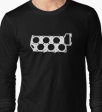 VR6 Cylinder Head (White Print) Long Sleeve T-Shirt